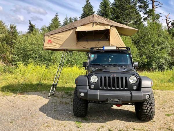 Musterzelt Tuff Trek TT02 Soft Top Tent 1,40 m sand mit leichten Transportschäden