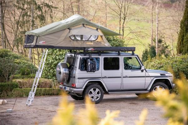 Campwerk Adventure Dachzelt 165 Oliv inkl. Innenzelt, Staunetz und Mesh